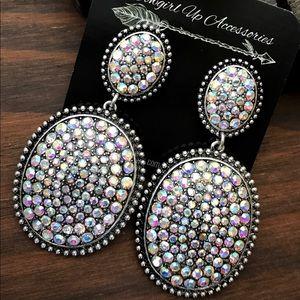 Jewelry - Sparkling Rhinestone Pave Earrings